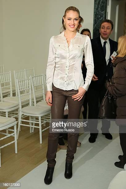 Sofia Bruscoli attends the Giada Curti fashion show as part of AltaRoma AltaModa Fashion Week on January 26 2013 in Rome Italy