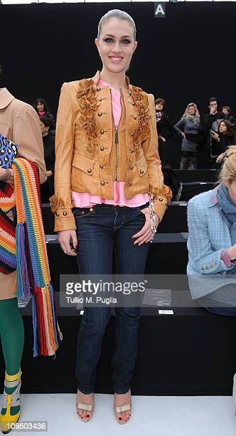 Sofia Bruscoli attends the Just Cavalli fashion show as part of Milan Fashion Week Womenswear Autumn/Winter 2011 on February 28 2011 in Milan Italy