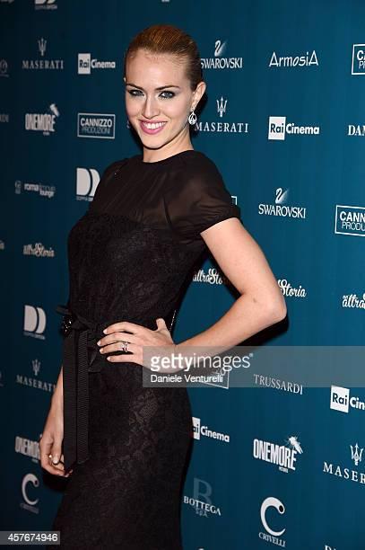 Sofia Bruscoli attends 'Un'Altra Storia' Charity Event Benefiting Doppia Difesa Arrivals during the 9th Rome Film Festival at Auditorium Parco Della...