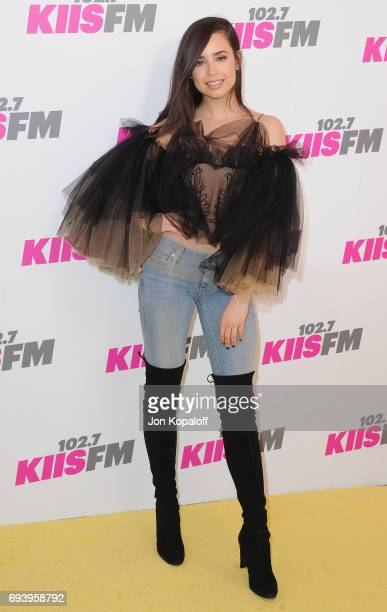 Sofia Carson arrives at 1027 KIIS FM's 2017 Wango Tango at StubHub Center on May 13 2017 in Carson California