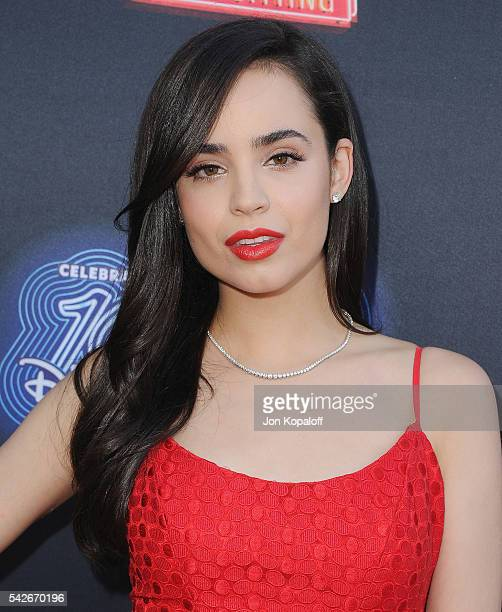 Sofia Carson arrives at the Premiere Of 100th Disney Channel Original Movie 'Adventures In Babysitting' And Celebration Of All DCOMS at Directors...