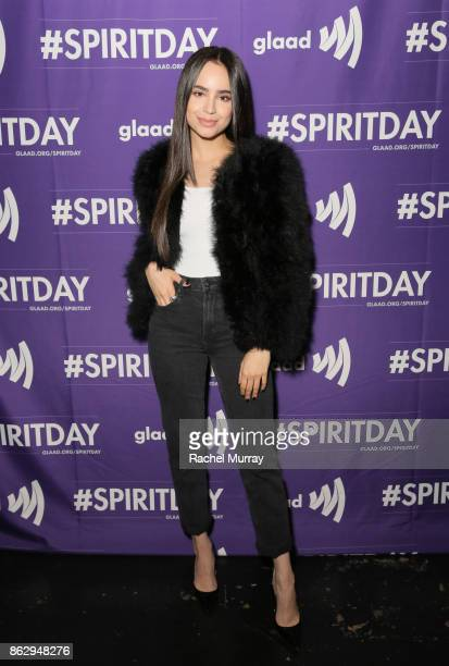 Sofia Carson at Justin Tranter And GLAAD Present 'Believer' Spirit Day Concert at Sayer's Club on October 18 2017 in Los Angeles California