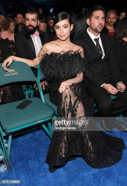 Sofia Carson attends The 18th Annual Latin Grammy Awards at MGM Grand Garden Arena on November 16 2017 in Las Vegas Nevada