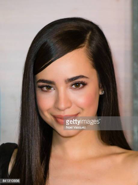 Sofia Carson visits 'Extra' at Universal Studios Hollywood on August 31 2017 in Universal City California