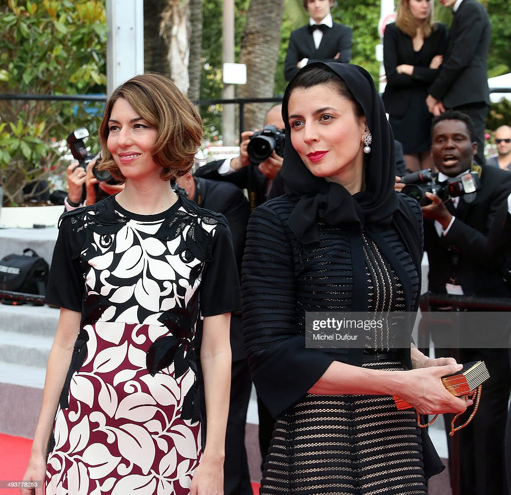 Sofia Copolla and Leila Hatami attend the red carpet for the Palme D'Or winners at the 67th Annual Cannes Film Festival>> on May 25, 2014 in Cannes, France.