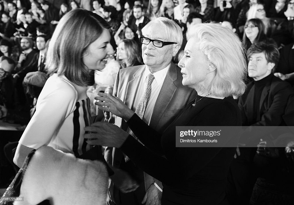 Sofia Coppola and Debbie Harry attend the Marc Jacobs Collection Fall 2013 fashion show during Mercedes-Benz Fashion Week at New York Armory on February 14, 2013 in New York City.