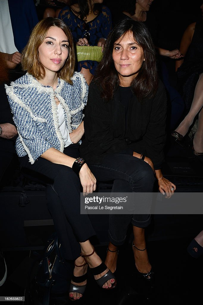 Sofia Coppola and Emmanuelle Alt attend the Louis Vuitton show as part of the Paris Fashion Week Womenswear Spring/Summer 2014 at Le Carre du Louvre on October 2, 2013 in Paris, France.