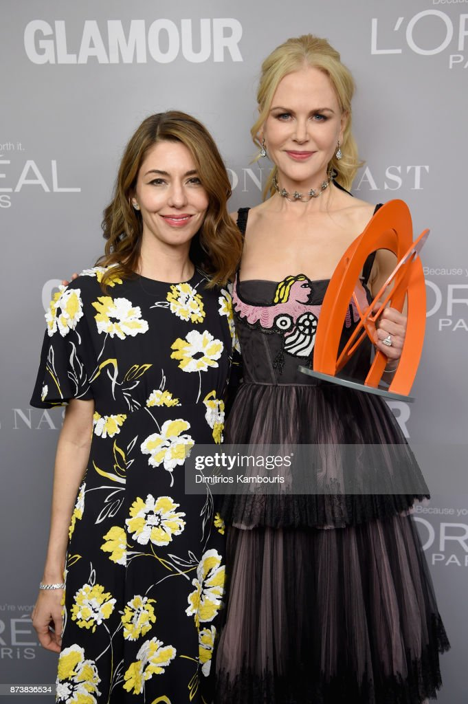 Sofia Coppola and Nicole Kidman pose with an award at Glamour's 2017 Women of The Year Awards at Kings Theatre on November 13, 2017 in Brooklyn, New York.