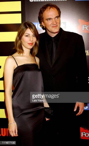 Sofia Coppola and Quentin Tarantino during 'Kill Bill Vol2' Madrid Premiere at Capitol Cinema in Madrid Spain