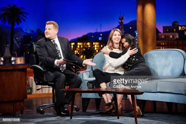 Sofia Coppola and Salma Hayek Pinault chat with James Corden during 'The Late Late Show with James Corden' Monday June 12 2017 On The CBS Television...