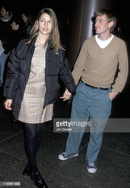 Sofia Coppola and Spike Jonze during Premiere of Castle Rock's 'Before Sunrise' Los Angeles at Director's Guild in Hollywood California United States