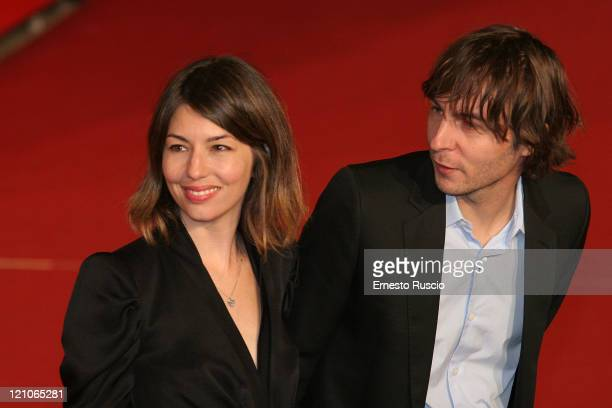 Sofia Coppola and Thomas Mars attend the premiere of 'Youth Without Youth' at the Auditorium of Rome during the 2nd Rome Film Festival October 20...