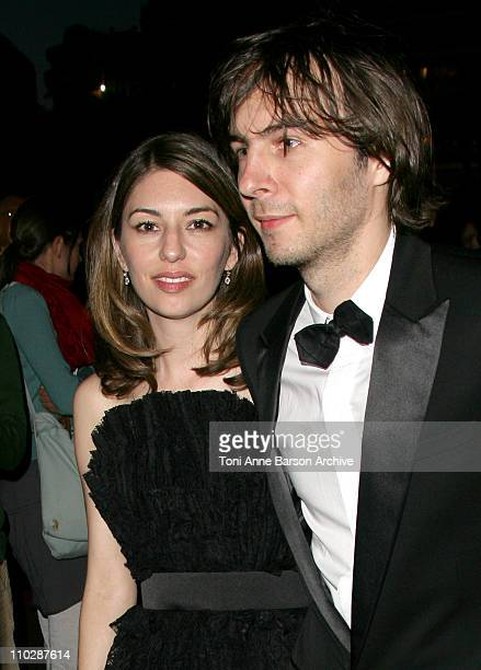 Sofia Coppola and Thomas Mars during 2006 Cannes Film Festival 'Marie Antoinette' After Party Arrivals at Palais des Festival in Cannes France