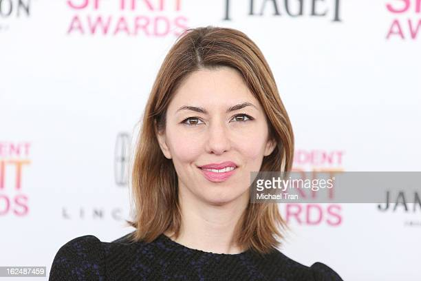 Sofia Coppola arrives at the 2013 Film Independent Spirit Awards held on February 23 2013 in Santa Monica California