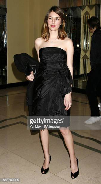 Sofia Coppola arrives for the Marc Jacobs London Fashion Week Autumn Winter 2007 Collection show at Claridges in central London