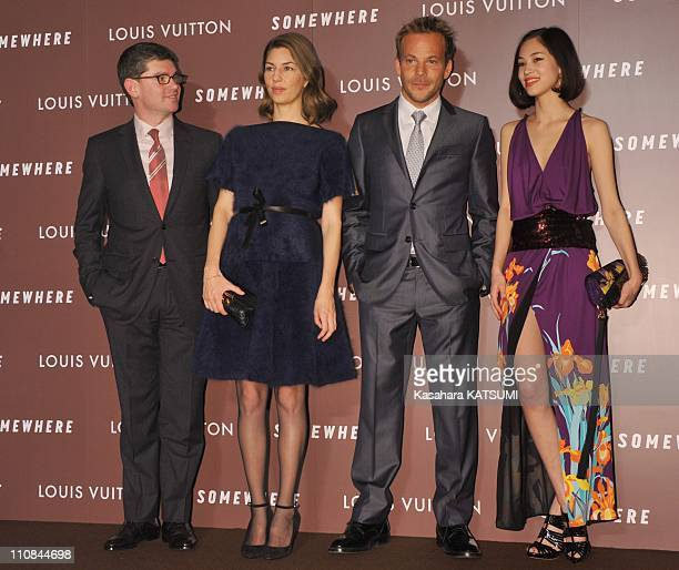 Sofia Coppola At Louis Vuitton Shop In Tokyo Japan On January 22 2011 Film director Sofia Coppola actor Stephen Dorff Frederic Grangie CEO of Louis...