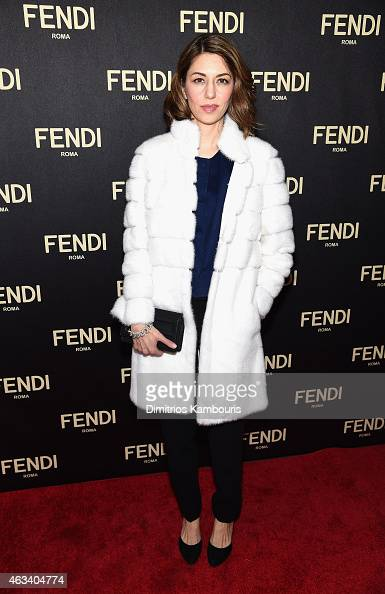 Sofia Coppola attends FENDI celebrates the opening of the New York flagship store on February 13 2015 in New York City