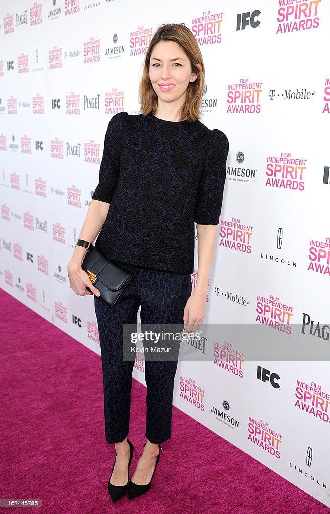 Sofia Coppola attends the 2013 Film Independent Spirit Awards at Santa Monica Beach on February 23, 2013 in Santa Monica, California.