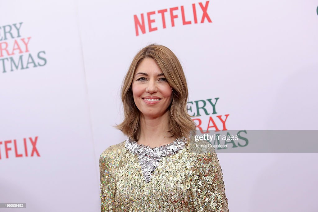 <a gi-track='captionPersonalityLinkClicked' href=/galleries/search?phrase=Sofia+Coppola&family=editorial&specificpeople=202230 ng-click='$event.stopPropagation()'>Sofia Coppola</a> attends the 'A Very Murray Christmas' New York Premiere at Paris Theater on December 2, 2015 in New York City.