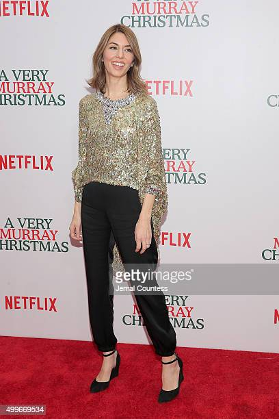 Sofia Coppola attends the 'A Very Murray Christmas' New York Premiere at Paris Theater on December 2 2015 in New York City