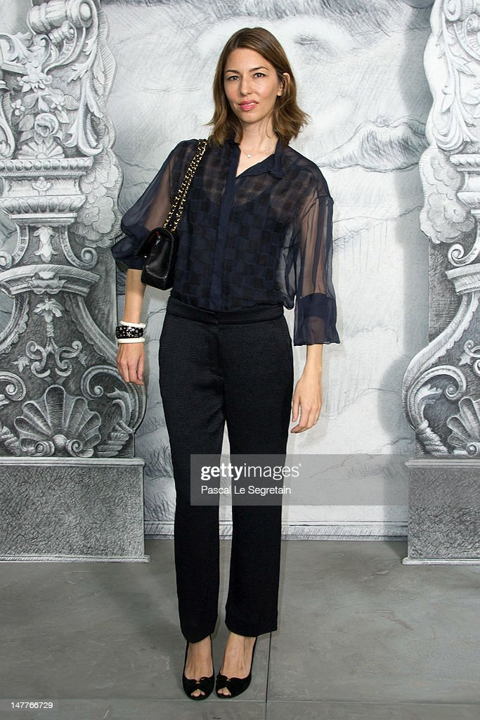 Sofia Coppola attends the Chanel Haute-Couture show as part of Paris Fashion Week Fall / Winter 2012/13 at the Grand Palais on July 3, 2012 in Paris, France.