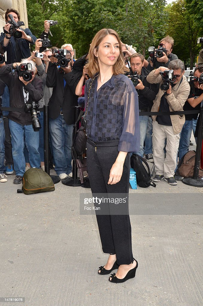 Sofia Coppola attends the Chanel show during Paris Fashion Week Haute Couture F/W 2012/13 at Le Grand Palais on July 3, 2012 in Paris, France.