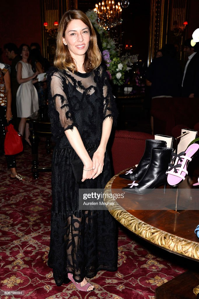 Sofia Coppola attends the dinner to celebrate the launch of Fabrizio Viti Cruise 18 Collection Back In Love Again at Hotel La Pavia on July 3, 2017 in Paris, France.