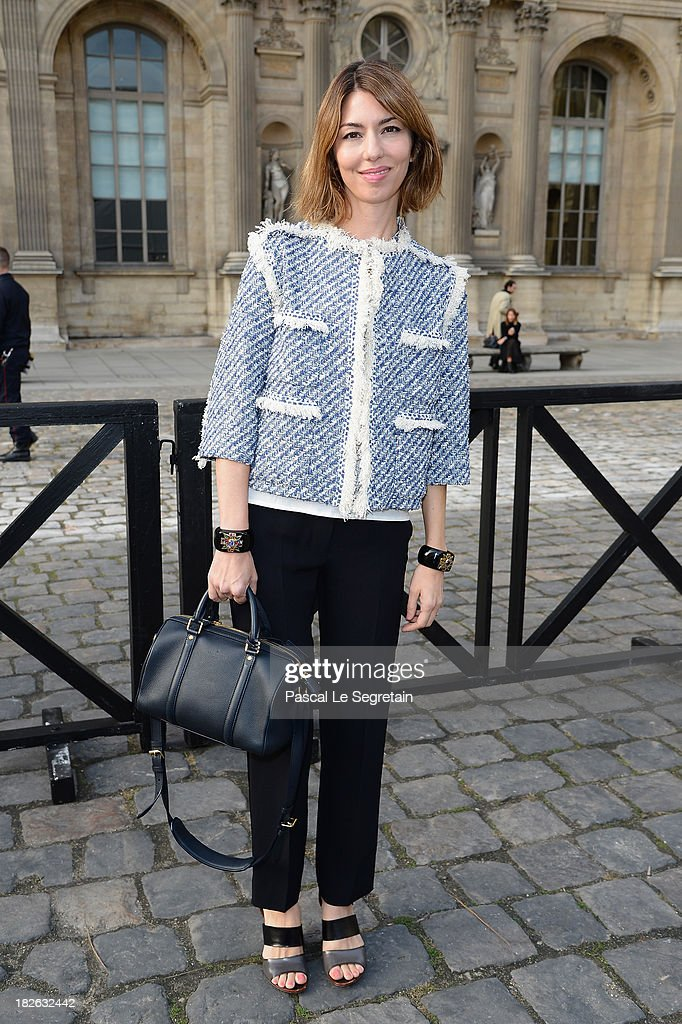 Sofia Coppola attends the Louis Vuitton show as part of the Paris Fashion Week Womenswear Spring/Summer 2014 at Le Carre du Louvre on October 2, 2013 in Paris, France.