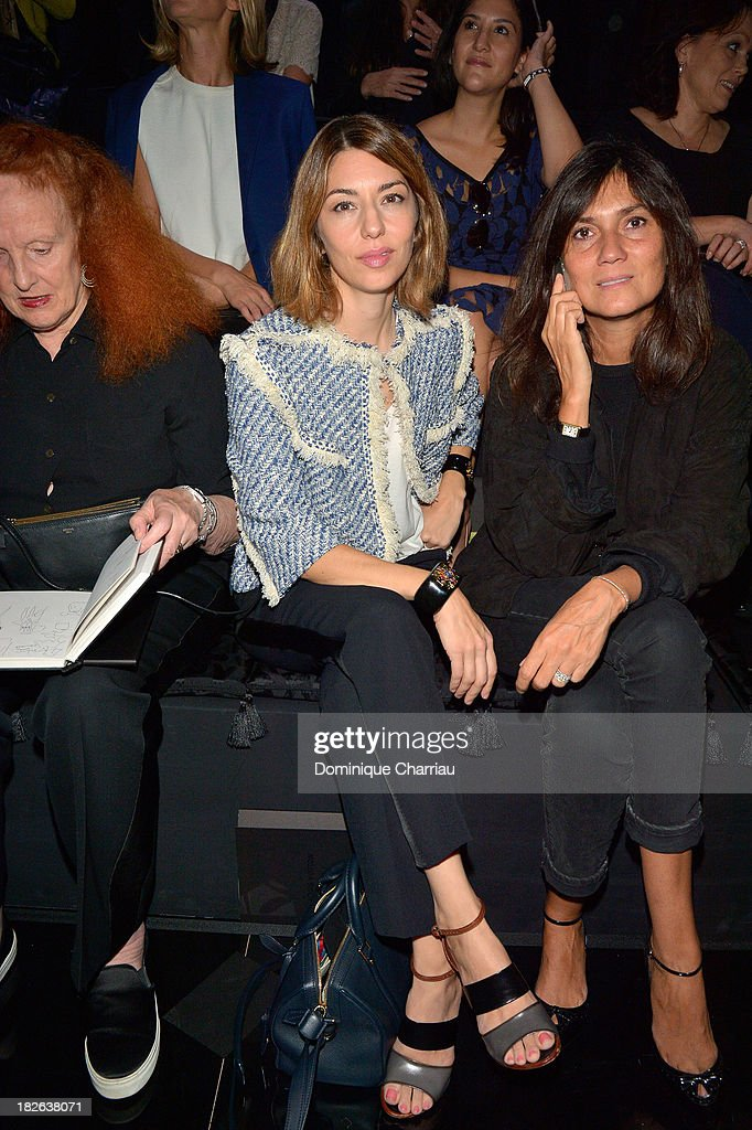 <a gi-track='captionPersonalityLinkClicked' href=/galleries/search?phrase=Sofia+Coppola&family=editorial&specificpeople=202230 ng-click='$event.stopPropagation()'>Sofia Coppola</a> attends the Louis Vuitton show as part of the Paris Fashion Week Womenswear Spring/Summer 2014 on October 2, 2013 in Paris, France.