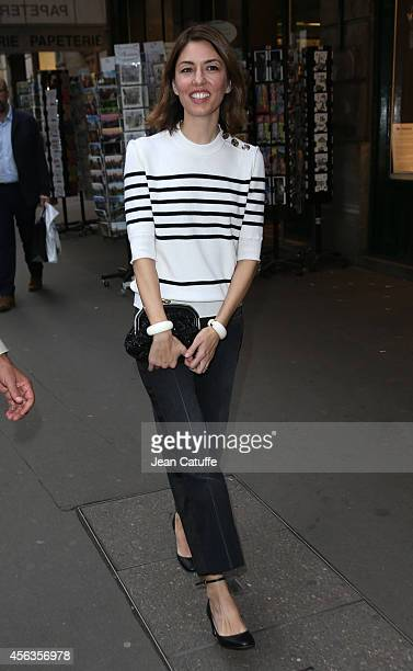 Sofia Coppola attends the Sonia Rykiel fashion show at her store as part of the Paris Fashion Week Womenswear Spring/Summer 2015 on September 29 2014...