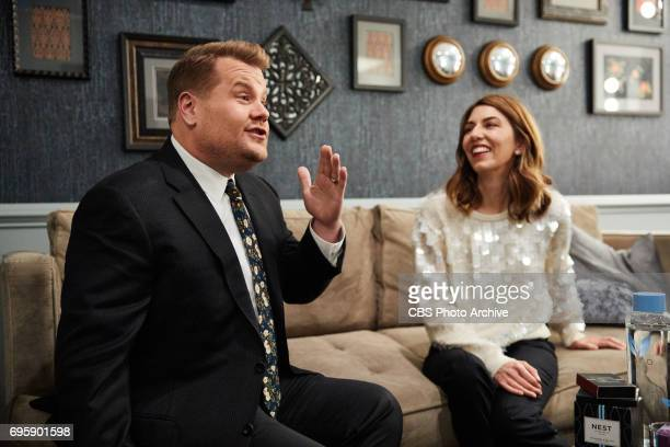 Sofia Coppola chats in the green room with James Corden during 'The Late Late Show with James Corden' Monday June 12 2017 On The CBS Television...