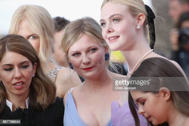 Sofia Coppola Colin Farrell Angourie Rice and Addison Riecke attend the 'The Beguiled' screening during the 70th annual Cannes Film Festival at...