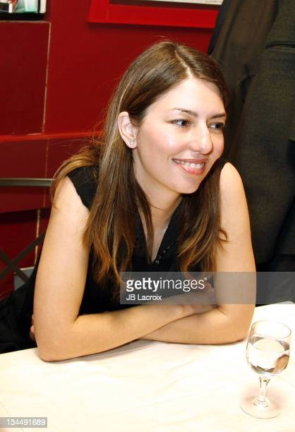 Sofia Coppola during Marc Jacobs Dinner at Dave in Paris January 27 2006 at Dave in Paris France