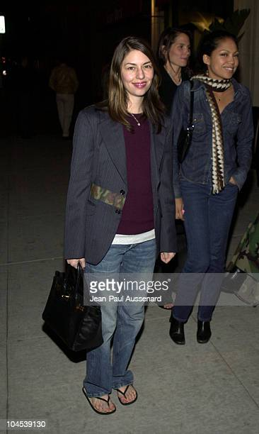 Sofia Coppola during Screening of 'Chop Suey' Directed by Bruce Weber at Laemmle Fairfax Theatre in Los Angeles California United States