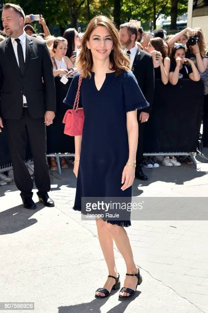 Sofia Coppola is seen arriving at the 'Chanel' show during Paris Fashion Week Haute Couture Fall/Winter 20172018 on July 4 2017 in Paris France