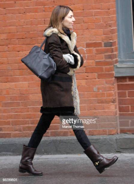 Sofia Coppola is seen on the Streets of Manhattan on November 19 2009 in New York City