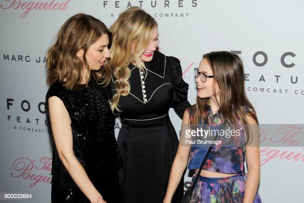 Sofia Coppola Kirsten Dunst and Oona Laurence attend 'The Beguiled' New York Premiere Arrivals at Metrograph on June 22 2017 in New York City