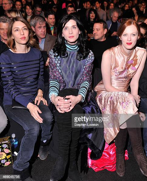 Sofia Coppola Michele Hicks and Karen Elson attend the Anna Sui fashion show during MercedesBenz Fashion Week Fall 2014 at The Theatre at Lincoln...