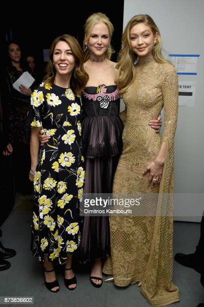 Sofia Coppola Nicole Kidman and Gigi Hadid pose backstage at Glamour's 2017 Women of The Year Awards at Kings Theatre on November 13 2017 in Brooklyn...