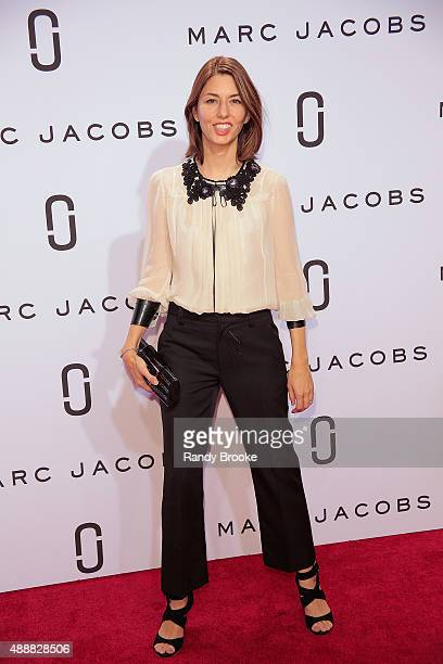 Sofia Coppola poses on the red carpet before the Marc Jacobs Runway Spring 2016 New York Fashion Week The Shows at Ziegfeld Theater on September 17...