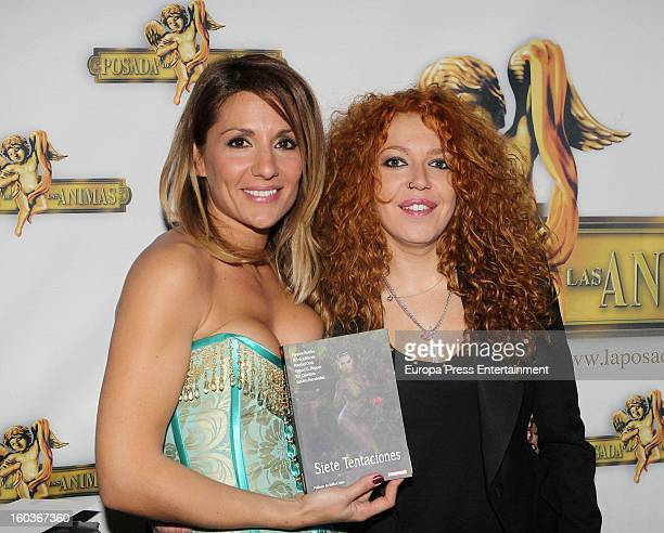 Sofia Cristo attends the presentation of 'Siete Tentaciones' book written by Nagore Robles on January 29 2013 in Madrid Spain
