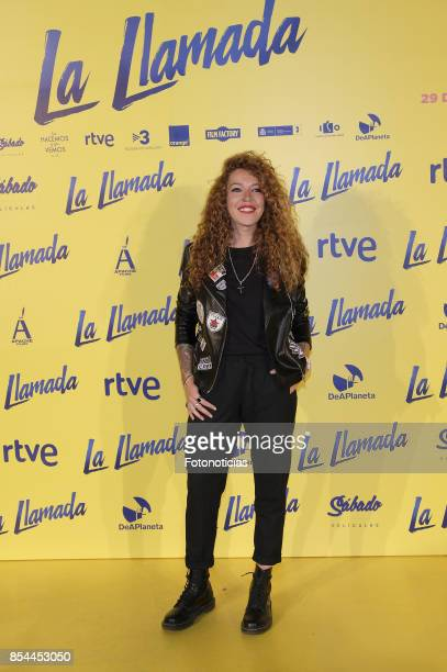 Sofia Crsito attends the 'La Llamada' premiere yellow carpet at the Capitol cinema on September 26 2017 in Madrid Spain