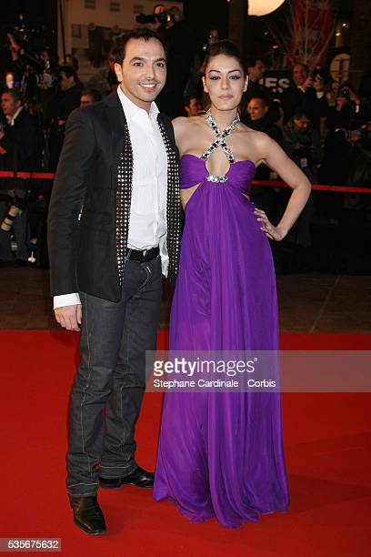 Sofia Essaidi and Kamel Ouali arrive at the 2008 NRJ Music Awards in Cannes