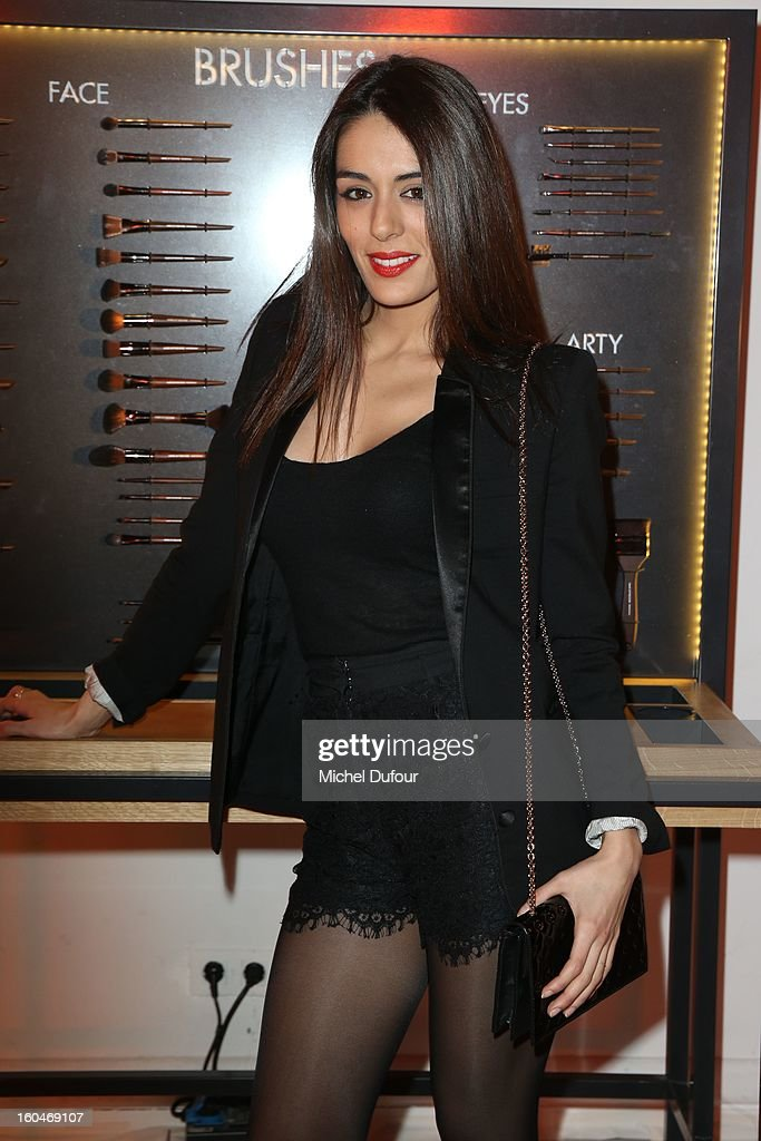Sofia Essaidi attends the Make Up For Ever Party at Palais De Tokyo on January 31, 2013 in Paris, France.