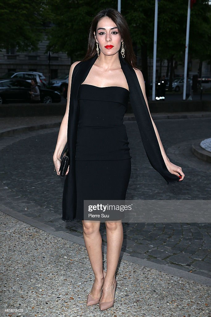 Sofia Essaidi attends the UNITAID Party at the Palais d'iena on April 1, 2014 in Paris, France.
