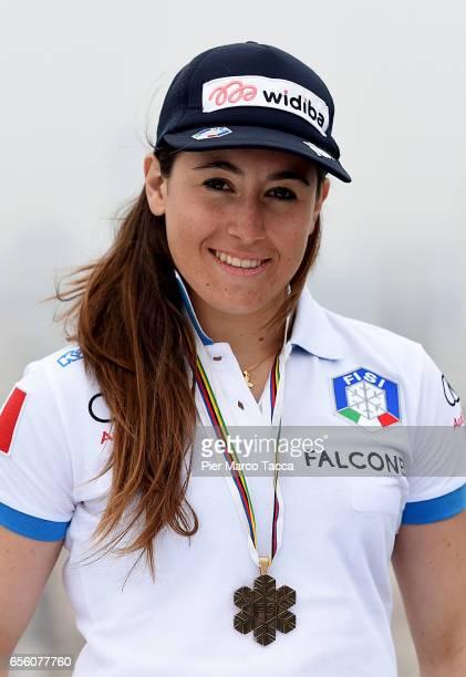 Sofia Goggia attends a FISI press conference at Terrazza Martini on March 21 2017 in Milan Italy