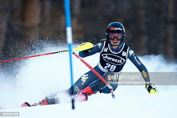 Sofia Goggia of Italy competes during the Audi FIS Alpine Ski World Cup Women's Combined on December 16 2016 in Vald'sere France