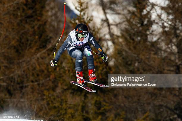 Sofia Goggia of Italy competes during the Audi FIS Alpine Ski World Cup Women's SuperG on January 29 2017 in Cortina d'Ampezzo Italy