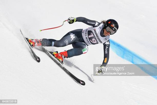 Sofia Goggia of Italy competes during the Audi FIS Alpine Ski World Cup Women's Alpine Combined on February 26 2017 in Crans Montana Switzerland