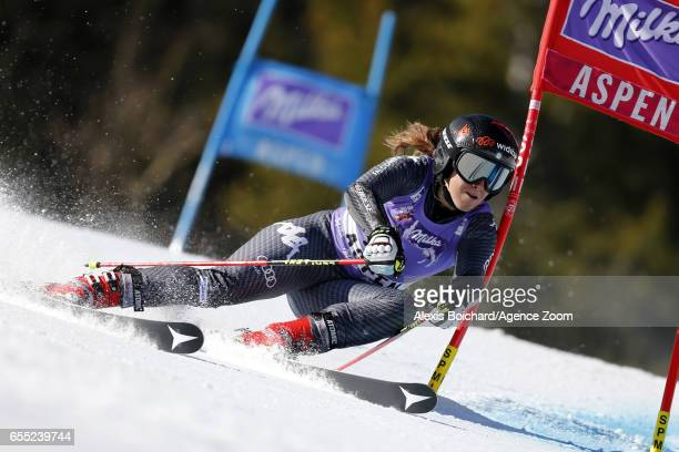 Sofia Goggia of Italy competes during the Audi FIS Alpine Ski World Cup Finals Women's Giant Slalom and Men's Slalom on March 19 2017 in Aspen...